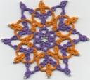 Poinsettia snowflake