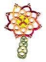 beaded button flower